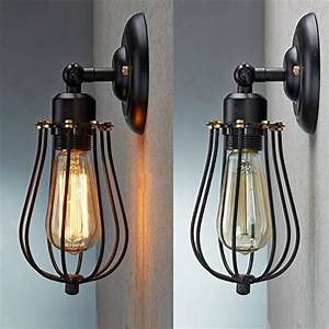 Wire Cage Wall Sconce  Cmyk Led Dimmable Metal