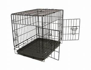 Paws pals 36quot lg dog crate double door folding metal for Lg dog cage