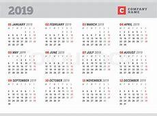 Printable 2019 Calendar with UAE Dubai Holidays Free