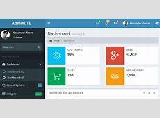 AdminLTE Dashboard & Control Panel CSS & JS Template