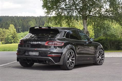 porsche macan all black mansory out to impress with black porsche macan
