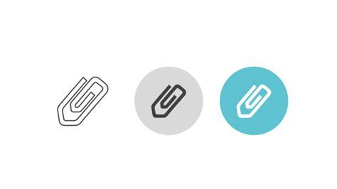 dreier icon buendel bueroklammer als symbol fuer datei anhaenge