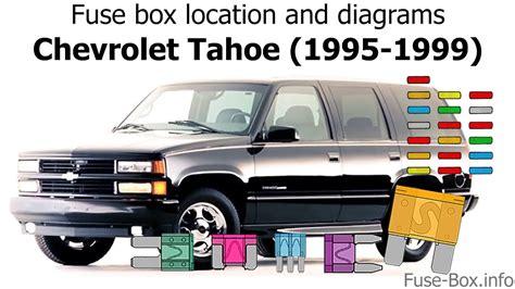 Fuse Box Location Diagrams Chevrolet Tahoe