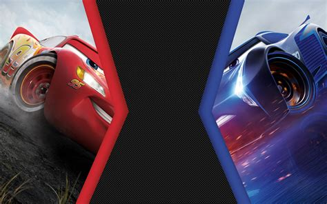 Cars 3 Lightning Mcqueen Vs Jackson Storm 4k 8k Wallpapers