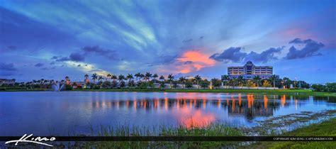 victoria lake palm beach gardens sunset fl print
