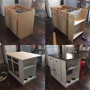 Unfinished, Base, Cabinet, To, Kitchen, Island, Diykitchenisland, Ineedmorespace