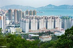 Residential District In Hong Kong City Stock Photo ...