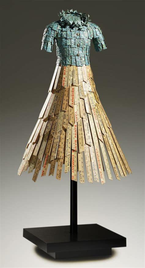 john petrey sculptor paper dress art fashion