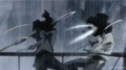 Fight Afro Samurai Anime Sword Gifs Animated