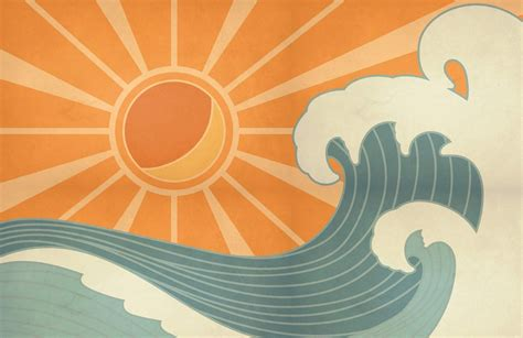 create a relaxed vibe with this retro surf wallpaper a