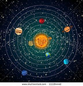 stock-vector-solar-system-with-sun-planets-and-stars ...