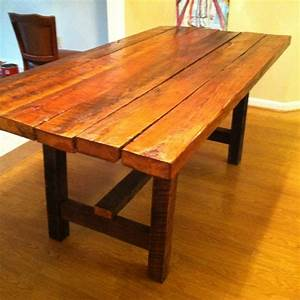 17 best ideas about barn wood tables on pinterest With barn wood dinner table