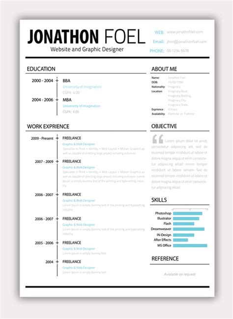 quot graphic quot resume for non graphic resumes