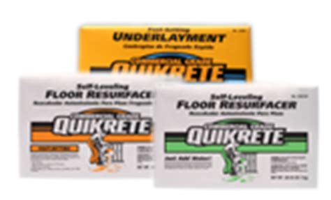 Quikrete Fast Setting Self Leveling Floor Resurfacer by At Home Quikrete 174 2017