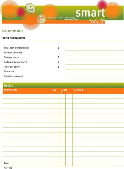 Page Recipe Template For Word by Word Recipe Templates Free Premium Templates