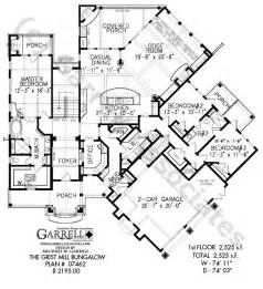 ranch floor plans with split bedrooms grist mill bungalow house plan active house plans