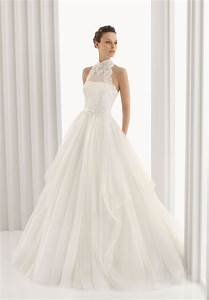 tulle lace a line wedding dress with collar sang maestro With collared wedding dress