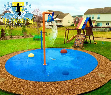 Backyard Water Park - residential splash pad in caledonia michigan