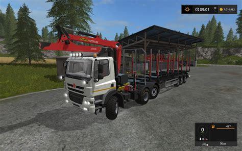phoenix ls and shades tatra phoenix 6x6 with forestry crane v1 0 truck farming