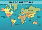 World Map with Country - Mocomi Kids