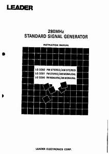 Leader Lg3282 Lg3281 Lg3280 Instruction Manual Service