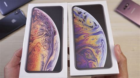 iphone xs max unboxing gold and silver