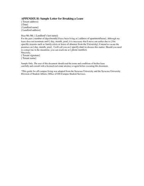 Landlord End Of Tenancy Letter Template by Best Photos Of Letter To Landlord Moving Out Letter From