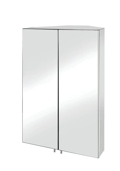 Stainless Steel Corner Bathroom Cabinet by Croydex Avisio Stainless Steel Door Corner Mirror
