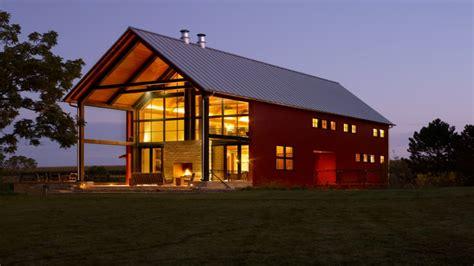 Modern Pole Barn, Pole Barn With Living Space Designs Pole