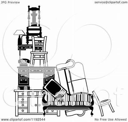 Furniture Pile Items Illustration Clipart Royalty Atstockillustration