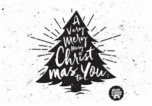 A Very Merry Christmas Tree Vector - Download Free Vectors ...