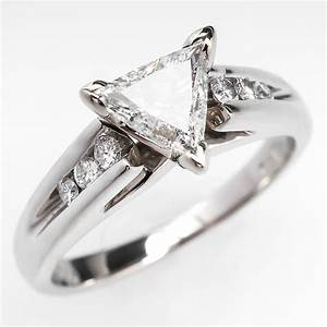 triangle trillion brilliant cut diamond engagement ring With trillion wedding ring
