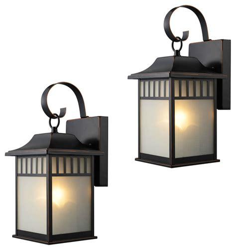 exterior light fixtures set of 2 rubbed bronze