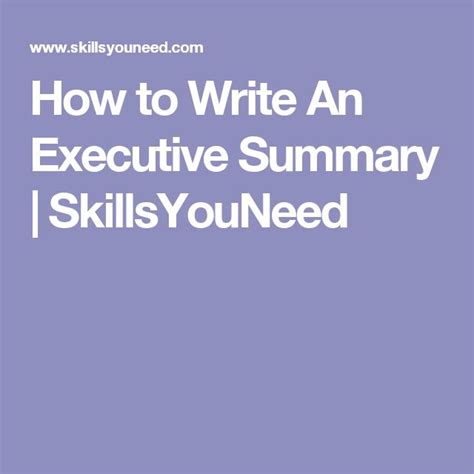 25 best ideas about executive summary on