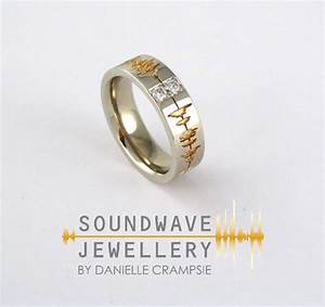 custom soundwave engagement ring record a special With wedding ring sound wave