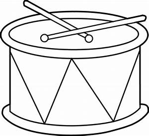 Marching Drum Coloring Page - Free Clip Art