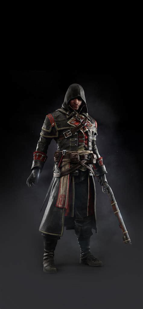 ak assassins creed rogue game art dark shay hood papersco