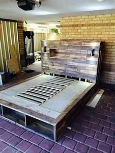 Palette De Bois : lit palette bois ~ Premium-room.com Idées de Décoration