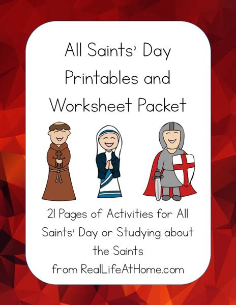 all saint preschool all saints day printables packet for elementary and 303