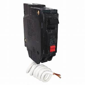 Ge 15 Amp Single Pole Ground Fault Breaker With Self