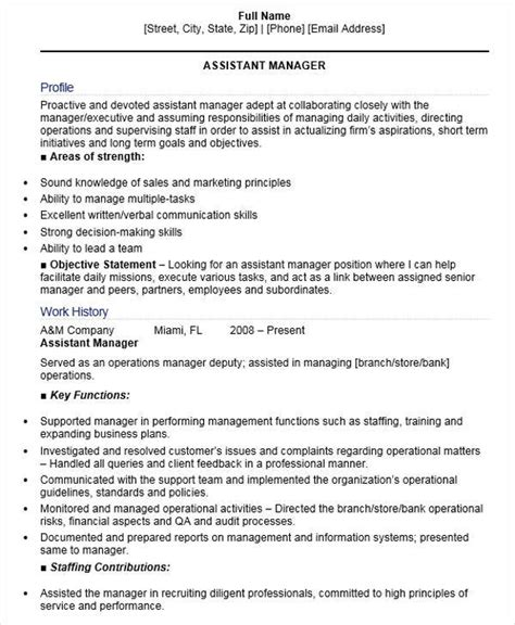 Assistant Site Manager Resume by 48 Manager Resume Templates