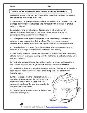 Correlation Worksheet Worksheets For School Roostanama
