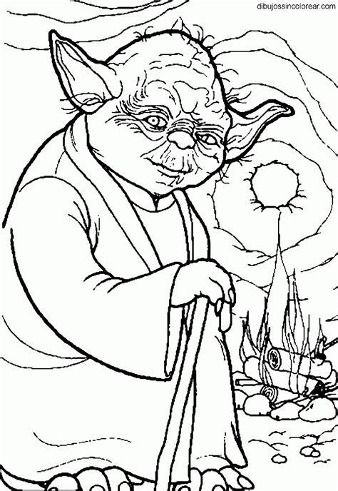 dibujos sin colorear dibujos del maestro yoda star wars