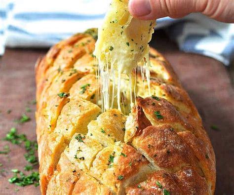 cheese  garlic crack bread pull  bread