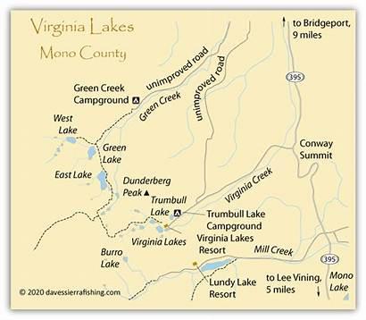 Lakes Virginia Map Fishing Maps Sierra Eastern