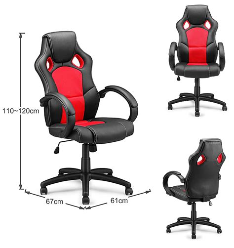 race car style pu office chair shopping