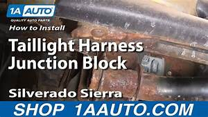 How To Install Replace Taillight Harness Junction Block