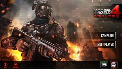 modern combat 4 zero hour for android and ios updated