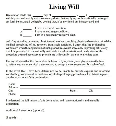 9 sle living wills pdf