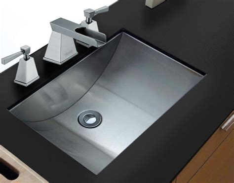 Stainless Steel Sinks Bathroom by Ruvati 21 Quot X 15 Quot Brushed Stainless Steel Rectangular